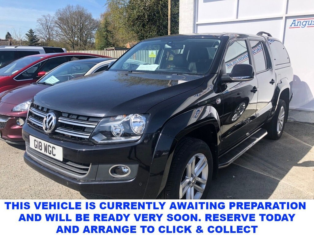USED 2016 66 VOLKSWAGEN AMAROK Highline 2.0 BiTDI 180 BMT 4MOTION 4dr 5 Seat Double Cab Pickup 4x4 AUTO with NO VAT TO PAY Rear Truckman Canopy Rear Load Liner Side Steps Towbat Heated Leather Seats Sat Nav and much more Excellent Pick-Up with great service history!