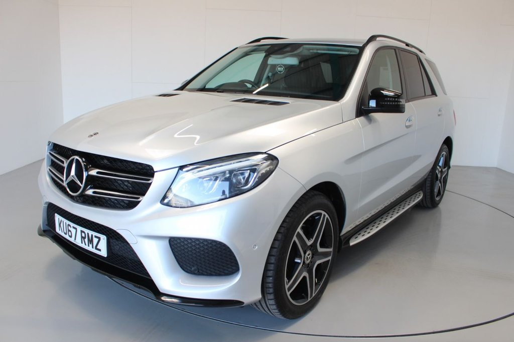 USED 2017 67 MERCEDES-BENZ GLE-CLASS 3.0 GLE 350 D 4MATIC AMG LINE 5d AUTO-2 OWNER CAR-REAR ENTERTAINMENT-SIDE RUNNING BOARDS-ELECTRIC ADJUSTABLE SEATS-HEATED BLACK LEATHER-BLUETOOTH-CRUISE CONTROL-SATNAV-PARKING SENSORS-REVERSE CAMERA-DAB RADIO-CLIMATE CONTROL