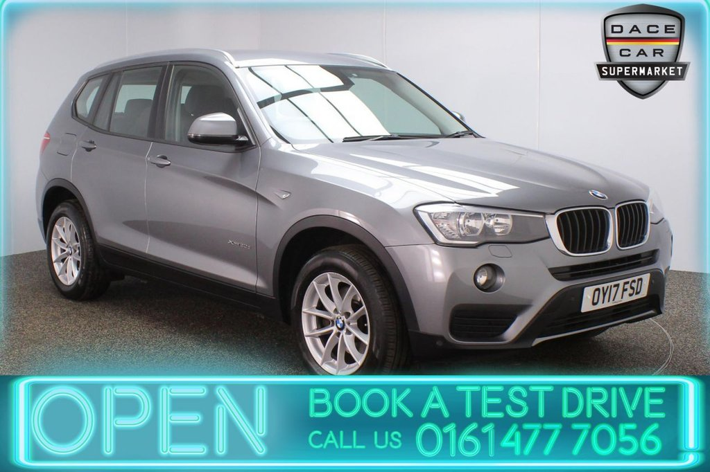USED 2017 17 BMW X3 2.0 XDRIVE20D SE 5DR 1 OWNER AUTO 188 BHP FULL BMW SERVICE HISTORY + HEATED LEATHER SEATS + SATELLITE NAVIGATION + PARKING SENSOR + BLUETOOTH + CRUISE CONTROL + CLIMATE CONTROL + MULTI FUNCTION WHEEL + DAB RADIO + ELECTRIC WINDOWS + ELECTRIC WINDOWS + 17 INCH ALLOY WHEELS