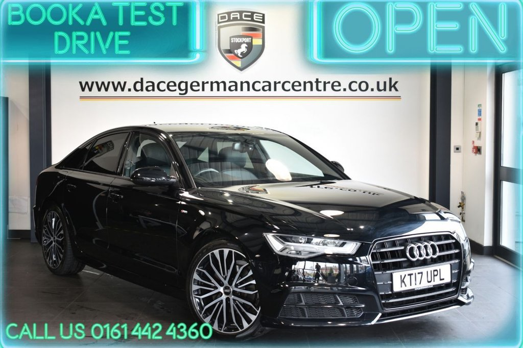 USED 2017 17 AUDI A6 2.0 TDI ULTRA BLACK EDITION 4DR AUTO 188 BHP FSH + NAV + LEATHER + HEATED SEATS + CRUISE + PARKING SENSORS