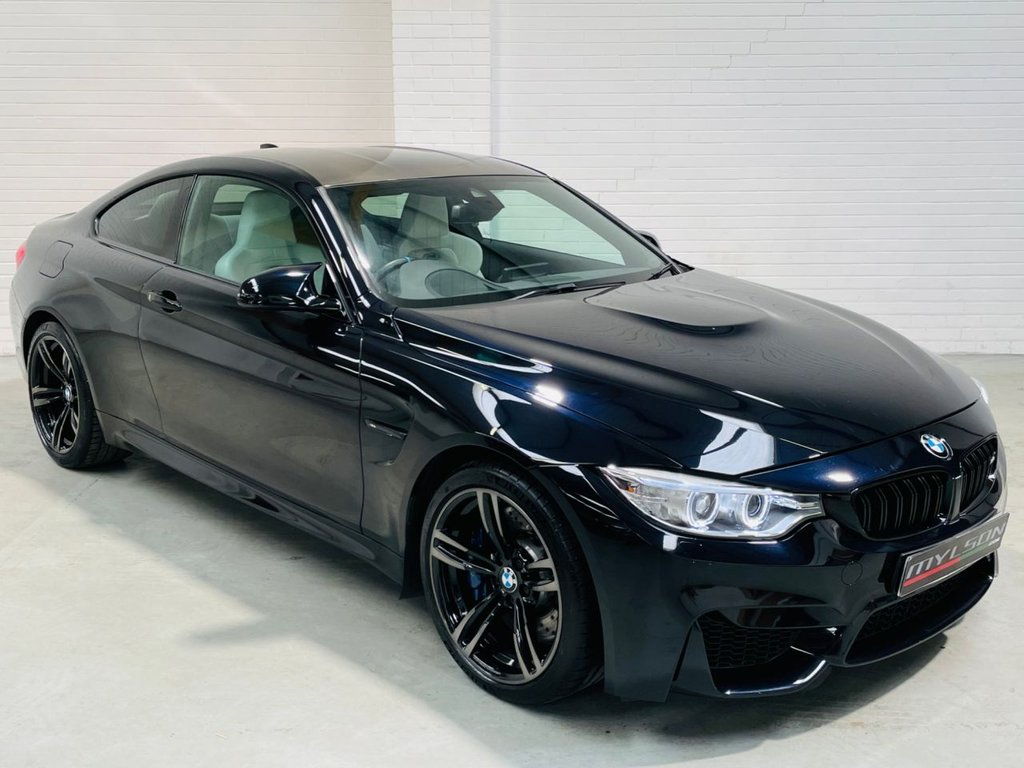 USED 2015 M BMW M4 3.0 M4 2d 426 BHP Individual Azurite Black with Opal White Extended Leather Interior, Great Spec