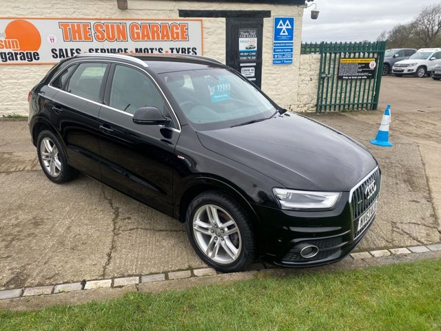 USED 2013 X AUDI Q3 2.0 TDI QUATTRO S LINE BLACK HIGH SPEC VERY WELL LOOKED AFTER ACR