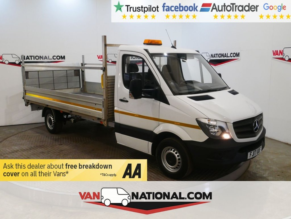 USED 2017 17 MERCEDES-BENZ SPRINTER 2.1 314CDI 140 BHP DROPSIDE TAIL LIFT WWW.VANNATIONAL.COM