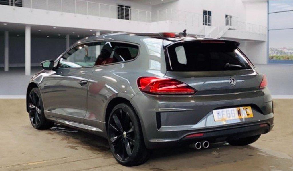 USED 2017 66 VOLKSWAGEN SCIROCCO 2.0 TDI BlueMotion Tech R-Line Black Edition Hatchback 3dr 190BHP | RARE SIG. URANO GREY