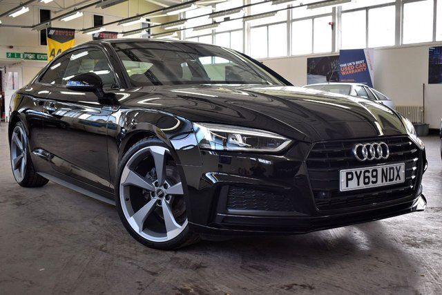 USED 2020 69 AUDI A5 2.0 TFSI BLACK EDITION 2d 188 BHP +  FULL AUDI SERVICE HISTORY / 1 OWNER / STILL UNDER MANUFACTURERS WARRANTY +
