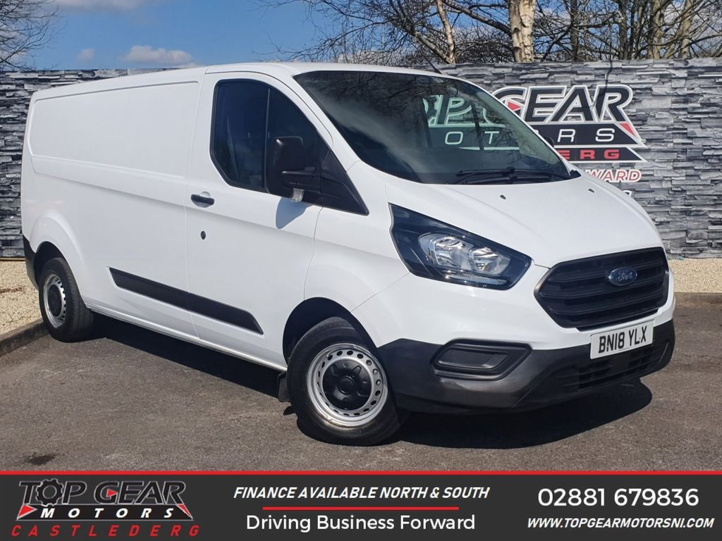 USED 2018 18 FORD TRANSIT CUSTOM 300 2.0 130 BHP BASE L2 H1  ** PLY LINED, FINANCE AVAILABLE, KITS AVAILABLE **
