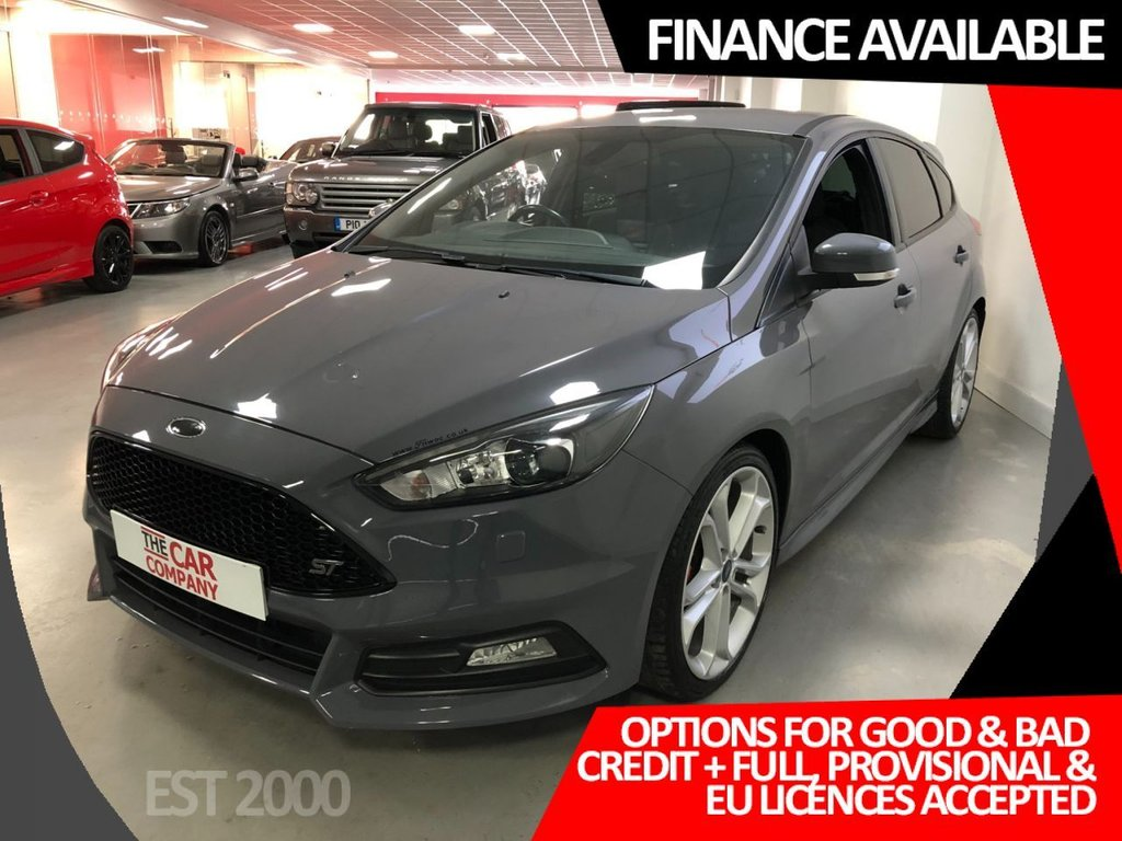 USED 2016 16 FORD FOCUS 2.0 ST-3 TDCI 5d 183 BHP * PRIVACY GLASS * CLIMATE * MOT MARCH 2022 * £20 A YEAR TAX * 19 INCH ALLOY WHEELS *