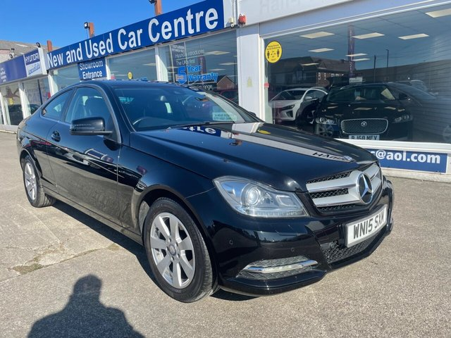 USED 2015 15 MERCEDES-BENZ C-CLASS 2.1 C220 CDI EXECUTIVE SE 2d 168 BHP 1 OWNER*FULL LEATHER*MERCEDES SERVICE HISTORY*NAV READY