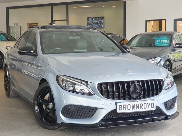 USED 2016 16 MERCEDES-BENZ C-CLASS 2.1 C220 D AMG LINE PREMIUM PLUS 4d 170 BHP BRM BODY STYLING+PAN ROOF