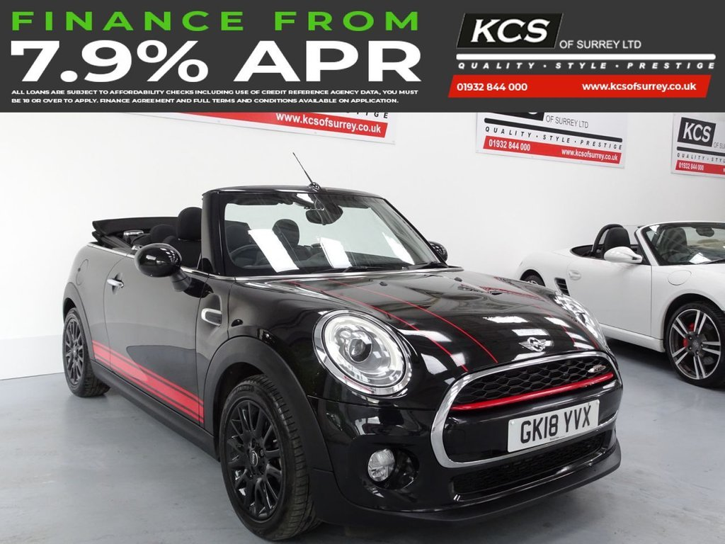 USED 2018 18 MINI CONVERTIBLE 1.5 COOPER D 2d 114 BHP CHILI PACK -SAT NAV -HTD SEATS