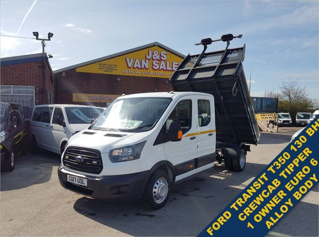 USED 2017 17 FORD TRANSIT CREWCAB TIPPER TWIN WHEEL EURO 6 2017/17REG LOTS MORE TIPPERS IN STOCK