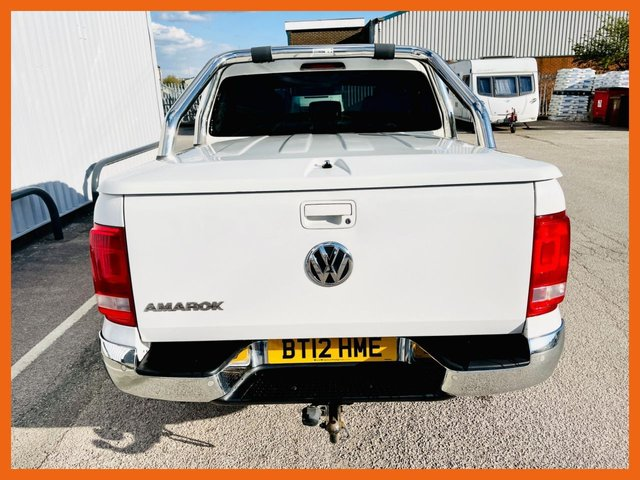 USED 2012 12 VOLKSWAGEN AMAROK 2.0 DC TDI HIGHLINE 4MOTION 4d 161 BHP COLOUR CODED REAR CANOPY - CHROME SIDE & REAR BARS - SATELLITE NAVIGATION - CAM BELT DONE 2020 - HEATED VIENNA BLACK LEATHER SEATS - REAR ACOUSTIC PARKING SENSORS - TOW BAR FITTED - 12 MONTH MOT