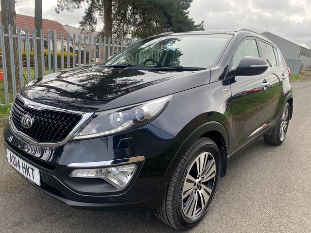 USED 2014 14 KIA SPORTAGE 2.0 CRDI KX-4 AWD 4X4 BLACK LOW MILES VERY WELL LOOKED AFTER