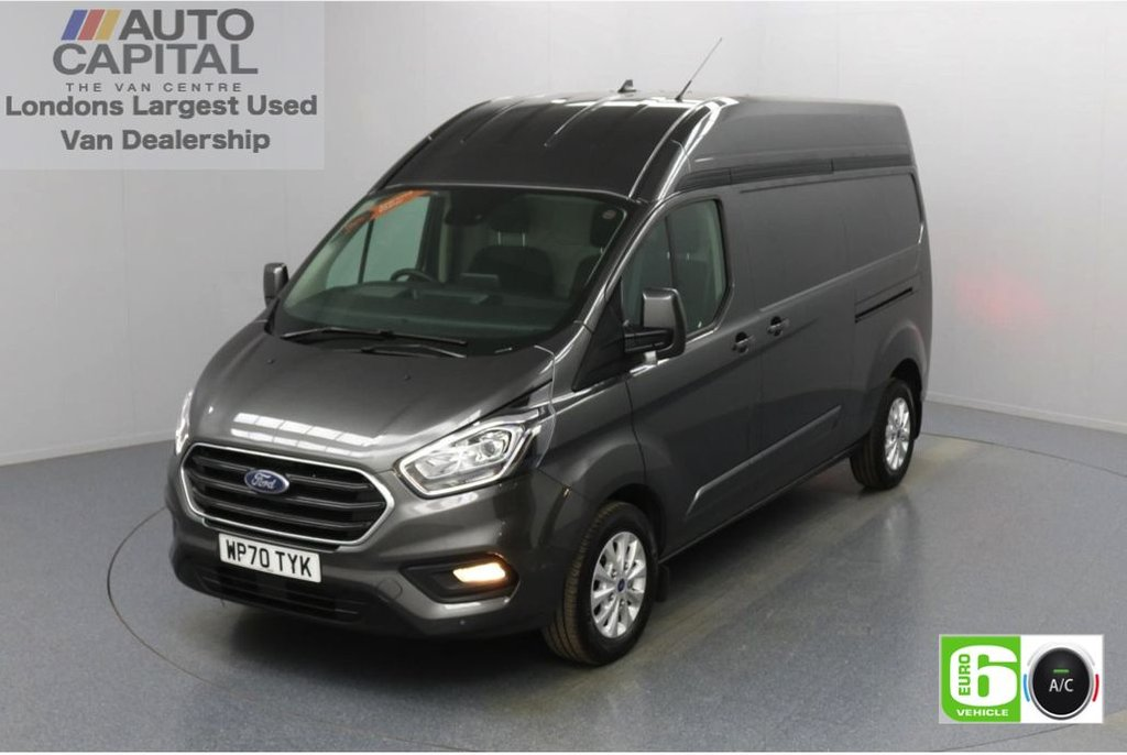 USED 2020 70 FORD TRANSIT CUSTOM 2.0 300 Limited EcoBlue Auto 170 BHP L2 H2 Euro 6 Low Emission Automatic | Sat Nav | AppLink | Ford SYNC 3 | Apple CarPlay | Eco | Air Con | Start/Stop | F-R Sensors