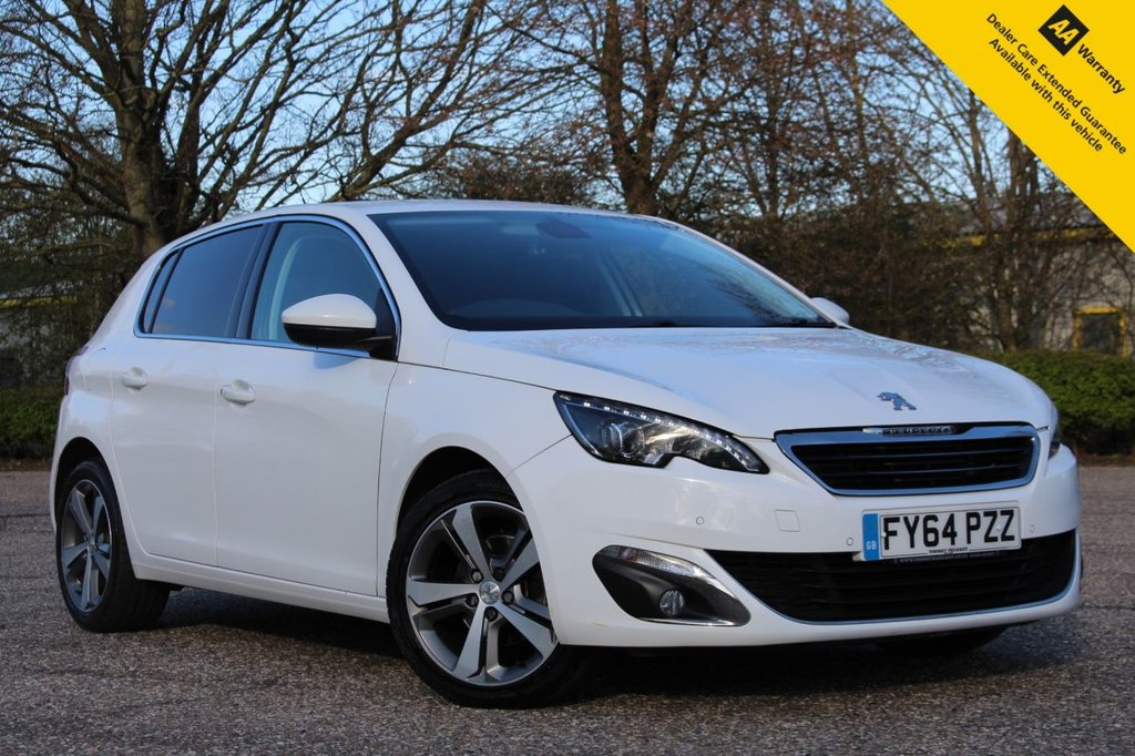 USED 2014 64 PEUGEOT 308 1.6 E-HDI ALLURE 5d 114 BHP ** FULL SERVICE HISTORY ** LONG ADVISORY FREE MOT ** SAT NAV ** FRONT + REAR PARKING AID ** REAR PARKING CAMERA ** CRUISE CONTROL ** CLIMATE CONTROL ** BLUETOOTH + USB ** DAB RADIO ** AUTO LIGHTS + WIPERS ** £0 ROAD TAX ** CLICK & COLLECT + NATIONWIDE DELIVERY AVAILABLE ** BUY ONLINE IN CONFIDENCE FROM A MULTI AWARD WINNING 5* RATED DEALER **