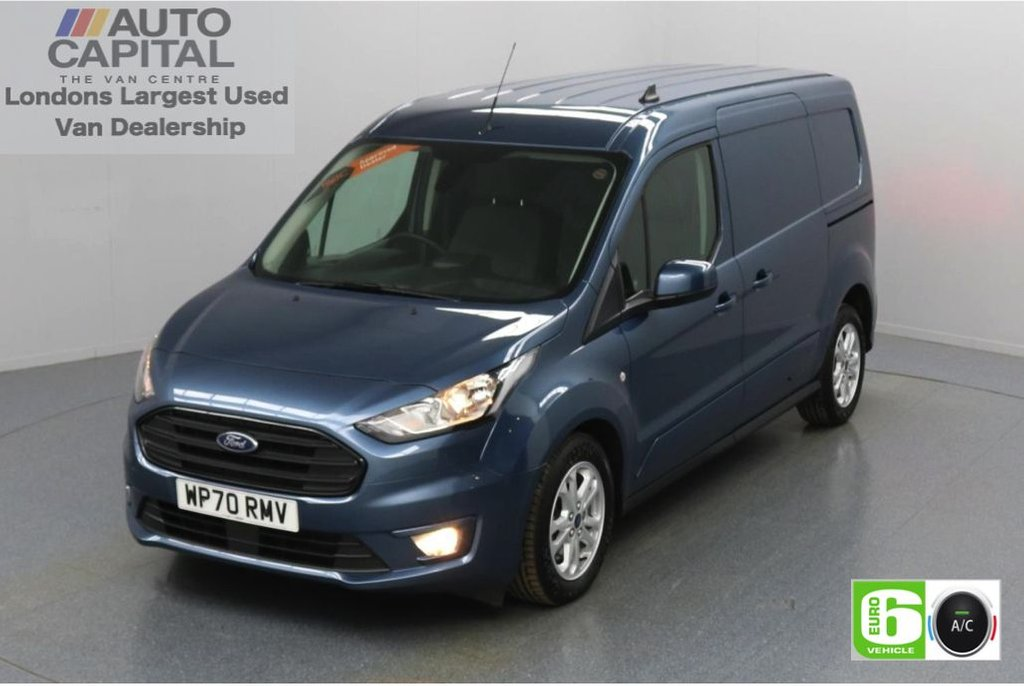 USED 2020 70 FORD TRANSIT CONNECT 1.5 240 Limited EcoBlue Auto 120 BHP L2 LWB 3 Seats Low Emission Automatic Gearbox   Air conditioning   Auto Start-Stop system   Rear parking distance sensors