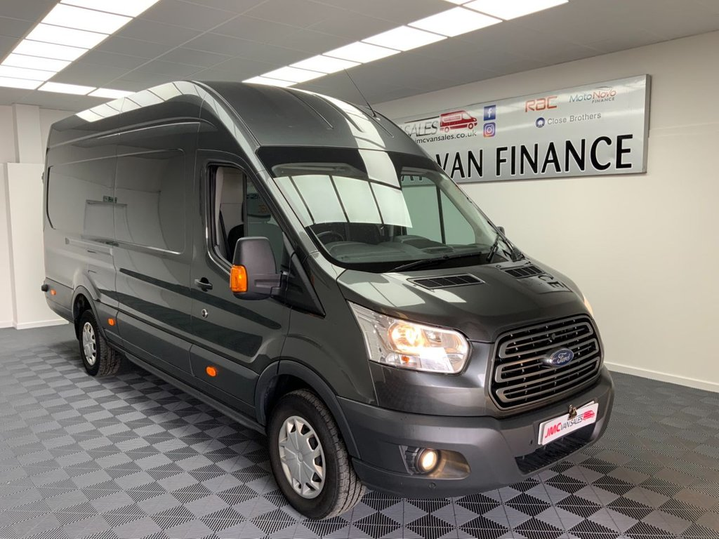 USED 2019 19 FORD TRANSIT 2.0 350 L4 H3 EXLWB JUMBO 130 BHP 1 OWNER AIR CON & CRUISE  1 OWNER AIR CON CHOICE IN STOCK 6 MONTHS WARRANTY