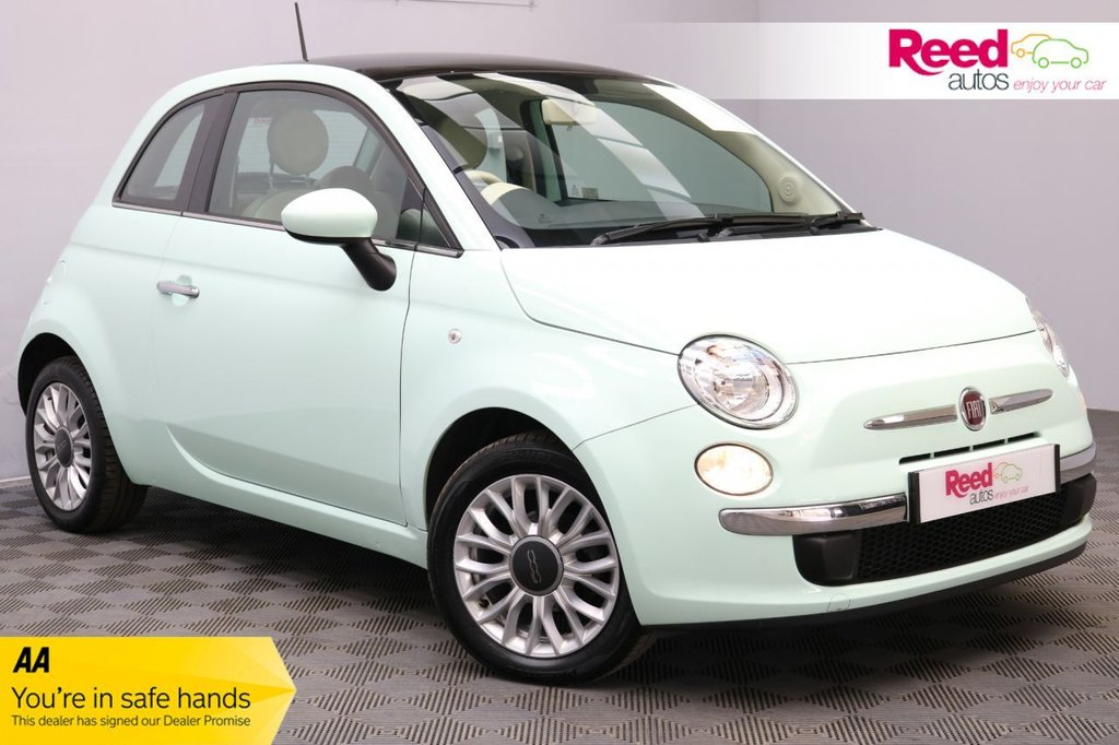 USED 2014 64 FIAT 500 1.2 LOUNGE DUALOGIC 3d 69 BHP 1 FORMER KEEPER+FULL SERV HIST+PANORAMIC ROOF+PRIVACY GLASS+BTOOTH
