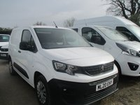 USED 2020 20 PEUGEOT PARTNER 1.5 HDI BLUEHDI PROFESSIONAL L1 H1 5d 101 BHP new shape peugeot partner pro 1.5 hdi turbo diesel peugeot warranty applies end of march 2023