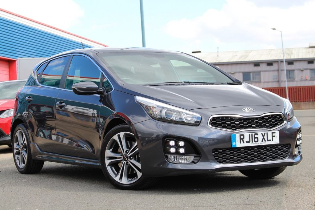 """USED 2016 16 KIA CEED 1.6 CRDI GT-LINE ISG 5d 134 BHP ** FULL KIA MAIN DEALER SERVICE HISTORY ** BRAND NEW ADVISORY FREE MOT - APRIL 2022 ** SAT NAV ** REAR PARKING AID + CAMERA ** CRUISE CONTROL ** DUAL ZONE CLIMATE CONTROL ** BLUETOOTH ** POWER MIRRORS ** 17"""" DIAMOND CUT ALLOYS ** ONLY £20 ROAD TAX - 70+ mpg ** CLICK & COLLECT + NATIONWIDE DELIVERY AVAILABLE ** BUY ONLINE IN CONFIDENCE FROM A MULTI AWARD WINNING 5* RATED DEALER **"""