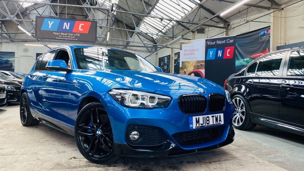 USED 2018 18 BMW 1 SERIES 1.5 118i M Sport Shadow Edition Sports Hatch (s/s) 5dr PERFORMANCEKIT+SHADOWED+18S