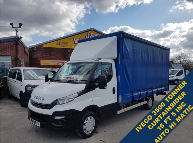 USED 2018 18 IVECO DAILY 35S14 140 BHP JUMBO L.W.B CURTAINSIDER HI MATIC AUTO  BIG STOCK LARGE BOX LUTON C/SIDERS ON SITE