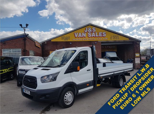 USED 2017 67 FORD TRANSIT T350 L5 DROPSIDER L.W.B ALLOY BODY EURO 6  BIG STOCK EURO 6 OVER VANS OVER 100 ON SITE