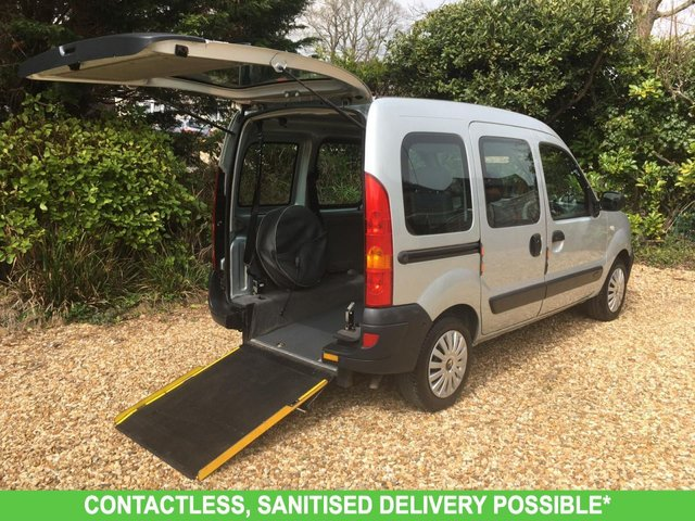 USED 2008 08 RENAULT KANGOO 1.1 AUTHENTIQUE 16V 5d 75 BHP 3 seats. LOW MILEAGE, WAV RAMP SCOOTER/WHEELCHAIR. DELIVERY POSSIBLE