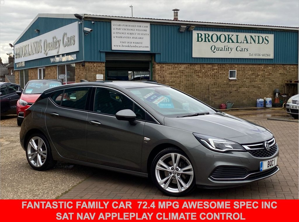 USED 2017 17 VAUXHALL ASTRA 1.6 SRI VX-LINE NAV CDTI S/S 5 Door Asteroid Grey 134 BHP FANTASTIC FAMILY CAR  72.4 MPG AWESOME SPEC INC SAT NAV APPLEPLAY CLIMATE CONTROL