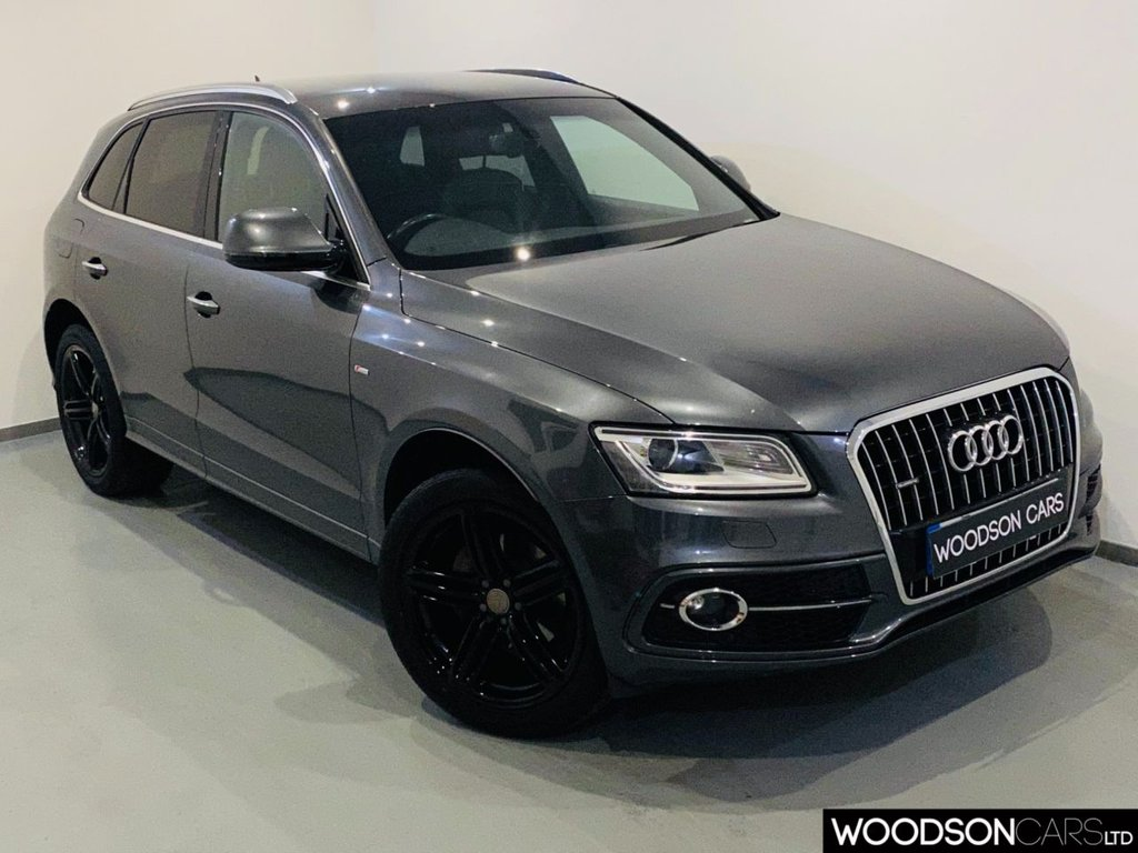 USED 2015 64 AUDI Q5 2.0 TDI QUATTRO S LINE PLUS 5d 175 BHP Sat Nav / Bluetooth / DAB Radio / Heated Leather / Isofix