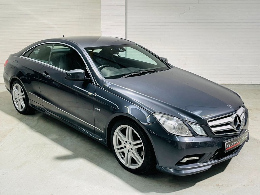 USED 2009 59 MERCEDES-BENZ E-CLASS 2.1 E250 CDI BLUEEFFICIENCY SPORT 2d 204 BHP AMG Pack, Tenorite Grey with Black Leather Interior, Heated Seats