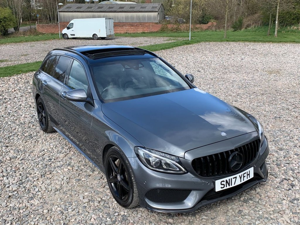 USED 2017 17 MERCEDES-BENZ C-CLASS 2.1 C300 H AMG LINE PREMIUM 5d 204 BHP Free Next Day Nationwide Delivery