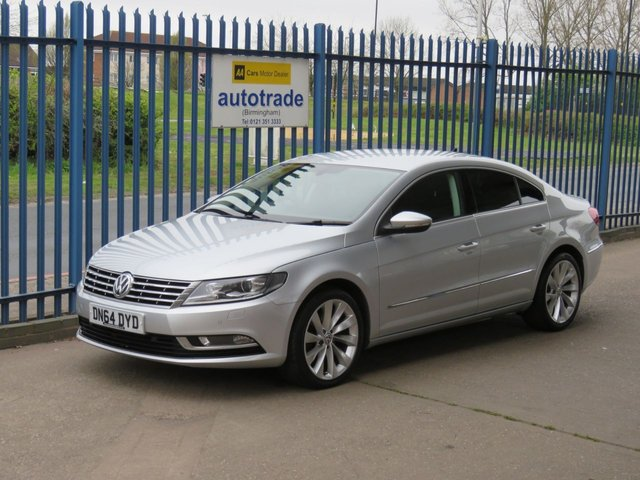 USED 2014 64 VOLKSWAGEN CC 2.0 GT TDI BLUEMOTION TECHNOLOGY 4d 138 BHP. Heated Full leather, Sat Nav, Front and Rear Sensors £30 Road Tax-Full Heated Leather-Sat Nav-Front and Rear Parking Sensors-Service History