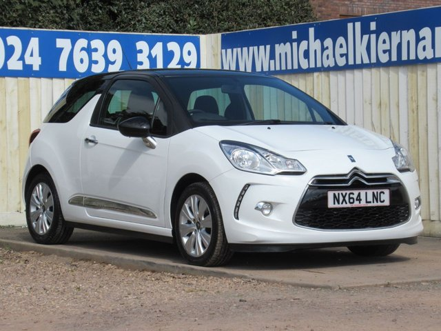 USED 2014 64 CITROEN DS3 1.6 E-HDI DSTYLE 3d 90 BHP LOVELY CAR THROUGHOUT