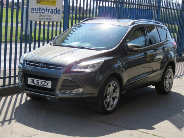 USED 2016 16 FORD KUGA 2.0 TITANIUM X TDCI 5dr Sat nav Full leather Panoramic roof Privacy glass Heated seats 18