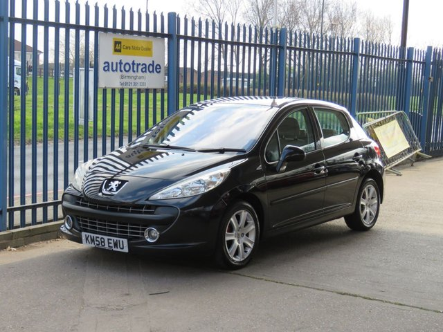 USED 2008 58 PEUGEOT 207 1.6 SE PREMIUM HDI 5dr Air conditioning Alloys Fogs £30 Tax-Panoramic Roof-A/C-Fog Lights-Alloy Wheels-Spare Wheel