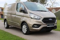 USED 2018 18 FORD TRANSIT CUSTOM 2.0 300 LIMITED P/V L1 H1 129 BHP NO VAT NEW SHAPE CUSTOM SILVER WARRANTY PLUS MOT INCLUDED