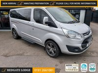 USED 2014 14 FORD TOURNEO CUSTOM 2.2 300 LIMITED TDCI 5d 124 BHP LEATHER SEATS, BLUETOOTH, AIRCON, PRIVACY GLASS, FRONT AND REAR SENSORS...
