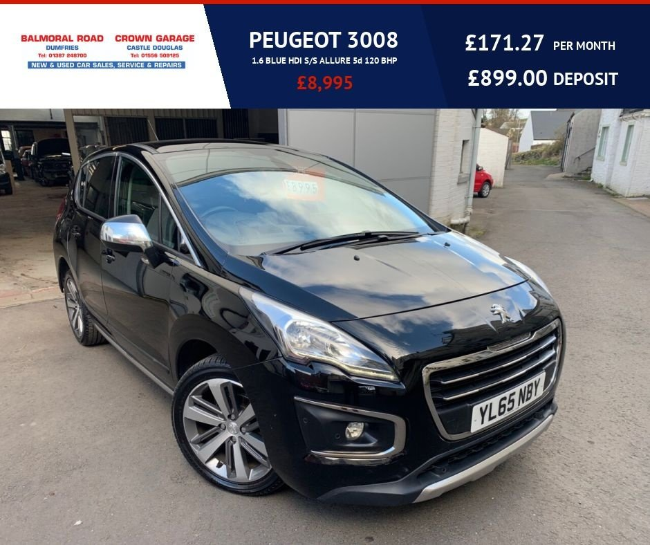 USED 2016 65 PEUGEOT 3008 1.6 BLUE HDI S/S ALLURE 5d 120 BHP