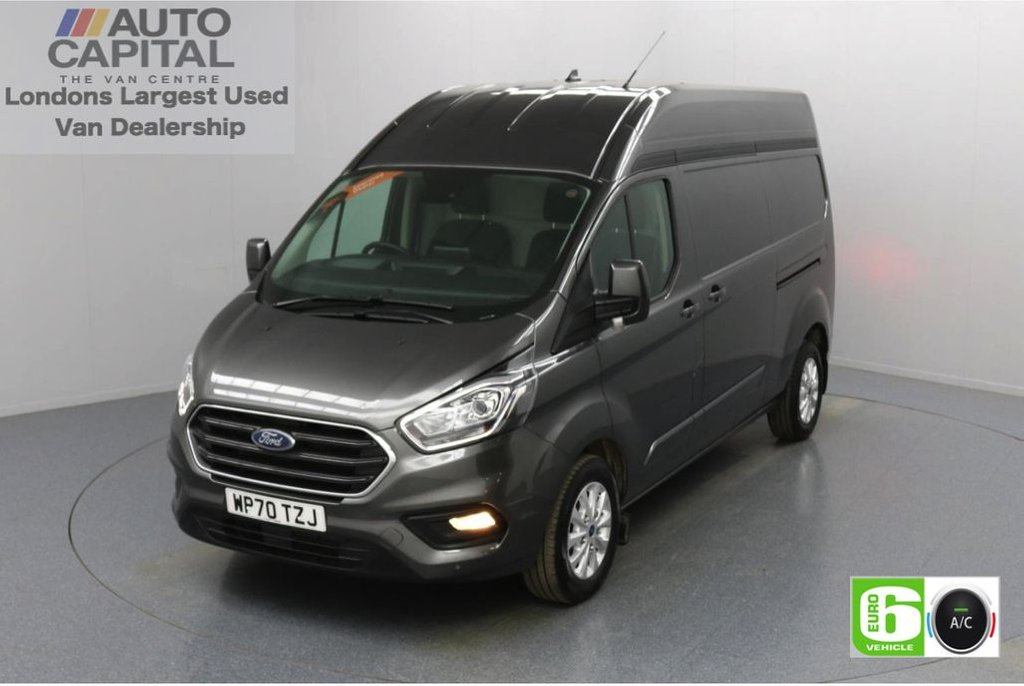 USED 2020 70 FORD TRANSIT CUSTOM 2.0 300 Limited EcoBlue Auto 170 BHP L2 H2 Euro 6 Low Emission Automatic | AppLink | Ford SYNC 3 | Apple CarPlay | Eco | Air Con | Start/Stop | F-R Sensors