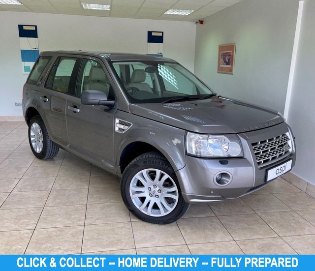 USED 2010 LAND ROVER FREELANDER 2.2 TD4 HSE 5d 159 BHP STORMOWAY GREY METALLIC, ALMOND LEATHER, SATELLITE NAVIGATION, PANORAMIC GLASS ROOF, HEATED FRONT SEATS, CRUISE CONTROL, BLUETOOTH, FRONT & REAR PARK ASSIST, ALLOY WHEELS, ELECTRIC FRONT SEATS – DRIVERS WITH MEMORY, ELECTRIC FOLDING MIRRORS, ALPINE SPEAKER SYSTEM, RADIO/C.D.,