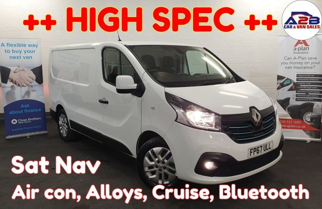 USED 2017 67 RENAULT TRAFIC 1.6  SPORT NAV DCI 120 BHP ,Bluetooth, Air con, Sat Nav, Cruise Control, Auto headlights, Auto Wipers, 3 seats, Electric Windows, Electric Mirrors and much more ... ++ READY TO DRIVE AWAY ++
