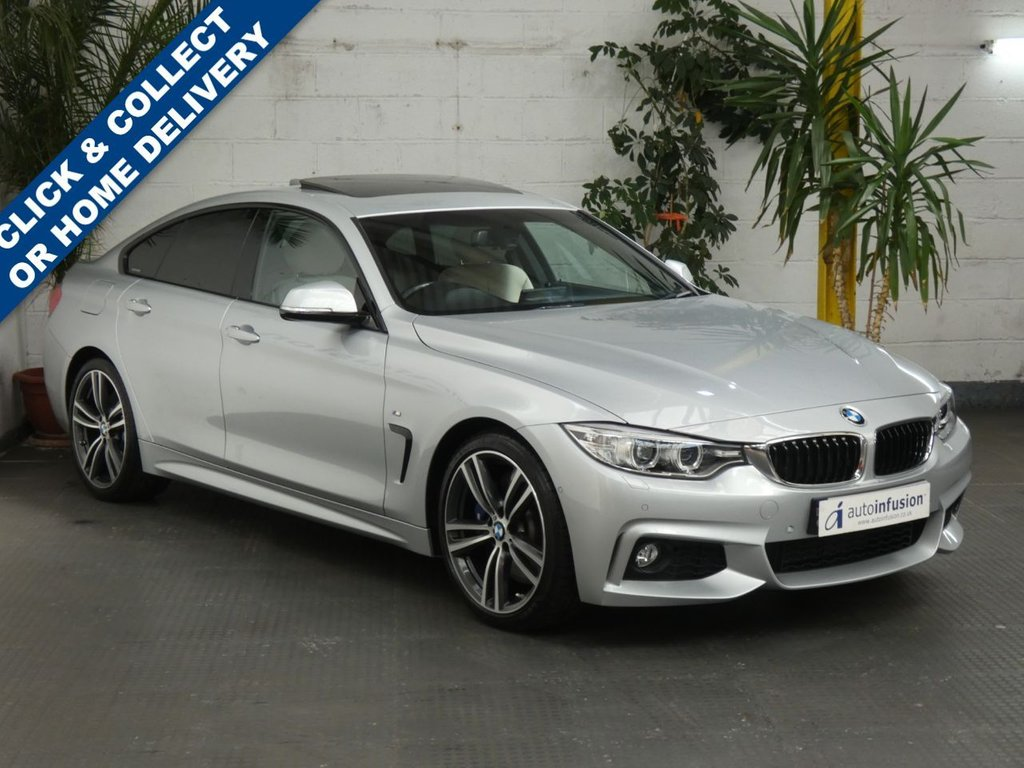 USED 2016 16 BMW 4 SERIES 2.0 430I M SPORT GRAN COUPE 4d 248 BHP SAT NAV SUNROOF LEATHER