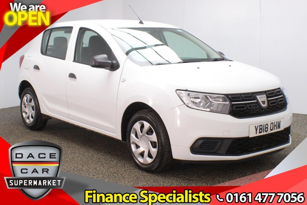 USED 2018 18 DACIA SANDERO 1.5 AMBIANCE DCI 5DR 1 OWNER 90 BHP FULL SERVICE HISTORY + BLUETOOTH + DAB RADIO + AIR CONDITIONING + RADIO/CD + AUX/USB PORTS + ELECTRIC WINDOWS