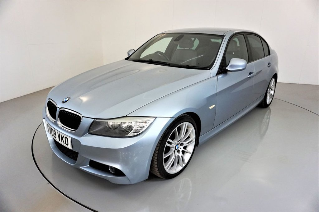 USED 2009 09 BMW 3 SERIES 2.0 320D M SPORT 4d AUTO-LOW MILEAGE EXAMPLE-HEATED GREY DAKOTA LEATHER-CRUISE CONTROL-18