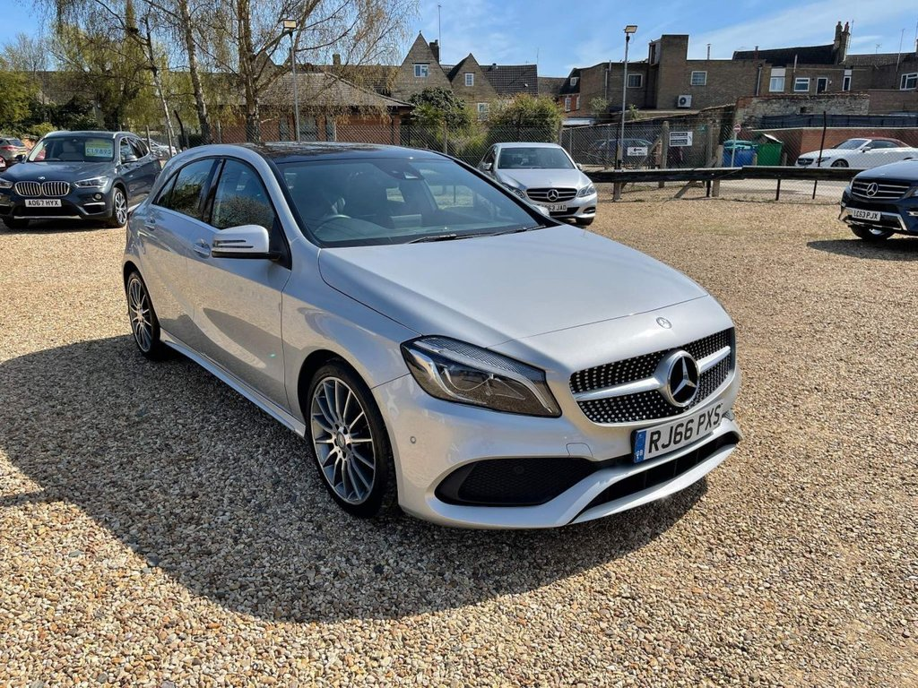 USED 2016 66 MERCEDES-BENZ A-CLASS 1.5 A180d AMG Line (Premium Plus) 7G-DCT (s/s) 5dr £20 Tax, Sat Nav & Pan Roof