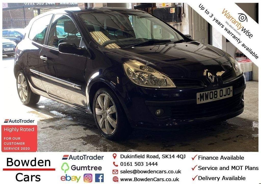 USED 2008 08 RENAULT CLIO 1.1 DYNAMIQUE S 16V TURBO 3d 100 BHP **FREE NATIONWIDE DELIVERY**