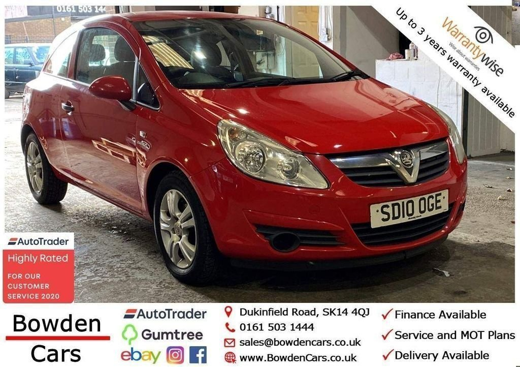 USED 2010 10 VAUXHALL CORSA 1.2 ENERGY 3d 83 BHP **FREE NATIONWIDE DELIVERY**