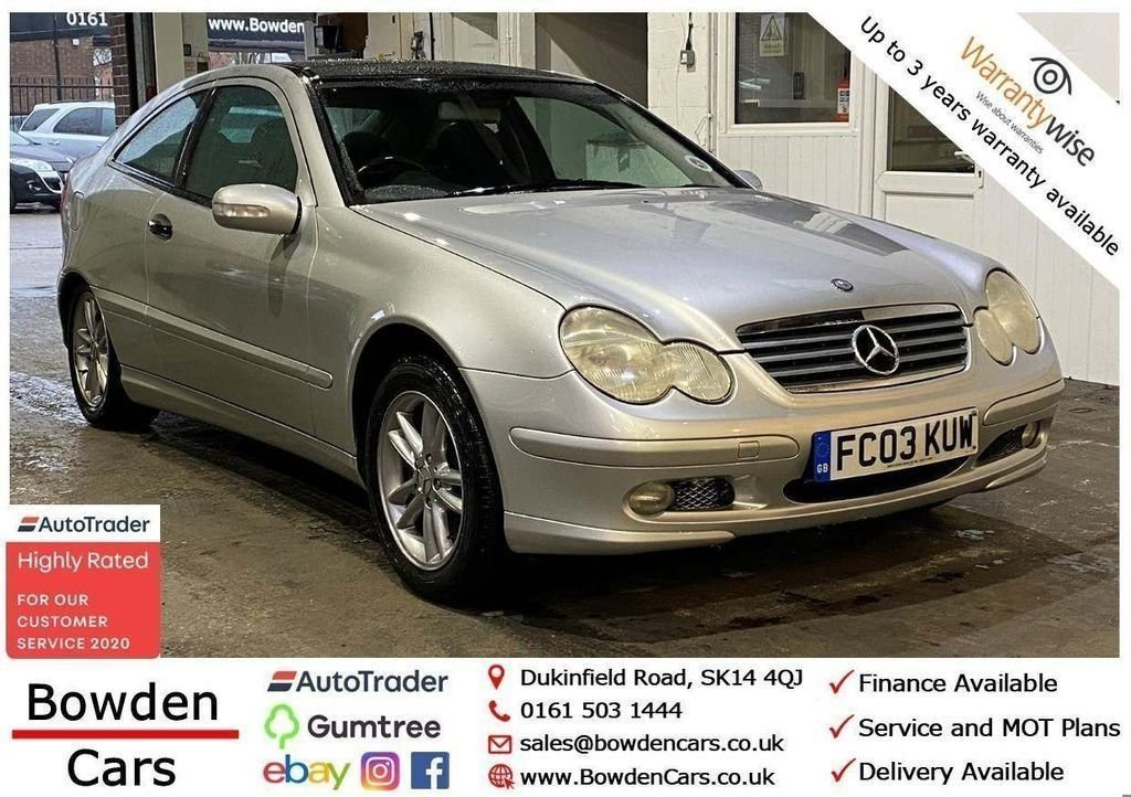 USED 2003 03 MERCEDES-BENZ C-CLASS 1.8 C200 KOMPRESSOR SE 3d 163 BHP **FREE NATIONWIDE DELIVERY**