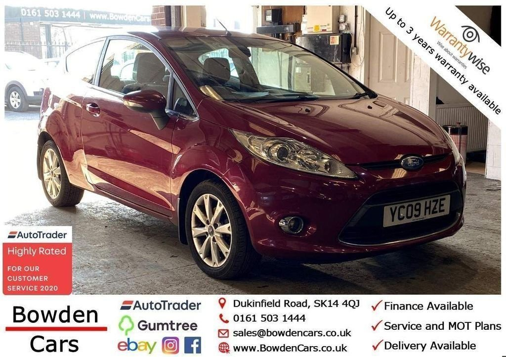 USED 2009 09 FORD FIESTA 1.2 ZETEC 3d 81 BHP **FREE NATIONWIDE DELIVERY**